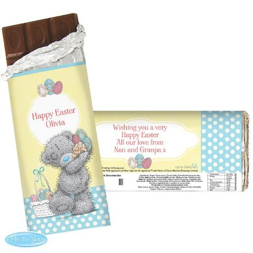 Personalised Me To You Easter Chocolate Bar